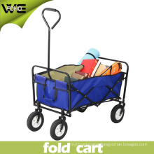 Wheeled Portable Simple Folding Grocery Pull Cart for Shopping