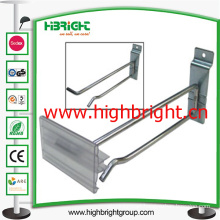 Metal Display Chrome Plating Hook with Plastic Price Tag