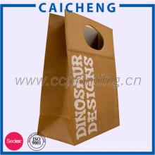 Usine en gros brun kraft emballage alimentaire sacs en papier avec fenêtre