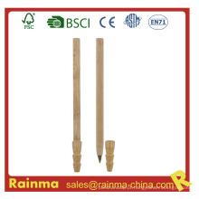 Caneta esferográfica de bambu em madeira para artigos de papelaria ecológicos634