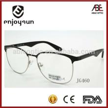 custom logo mens half rim metal optical spectacles