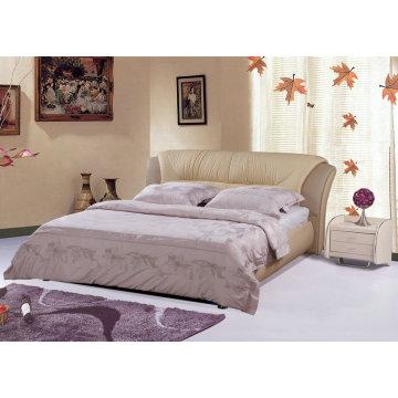Современная кожаная кровать, отель (9005)