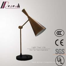 Lampe de table à gradation de chevet en forme de corne de bronze décorative traditionnelle