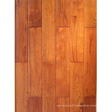 Plancher de bois franc d'ingénierie en teck chinois (robinier)