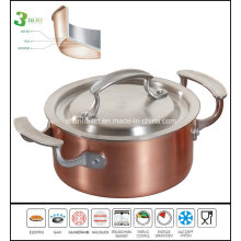3 Ply Copper Stock Pot Cooking Pot