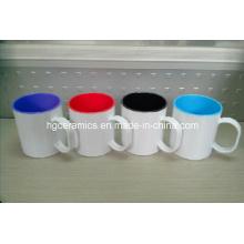 Taza de plástico de sublimación, taza de plástico de sublimación de dos tonos