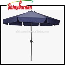 3M Fashionable Outdoor Garden Aluminum Folding Beach Umbrella With Flap