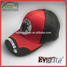 heavy brushed short peak baseball cap with 3D embroidery