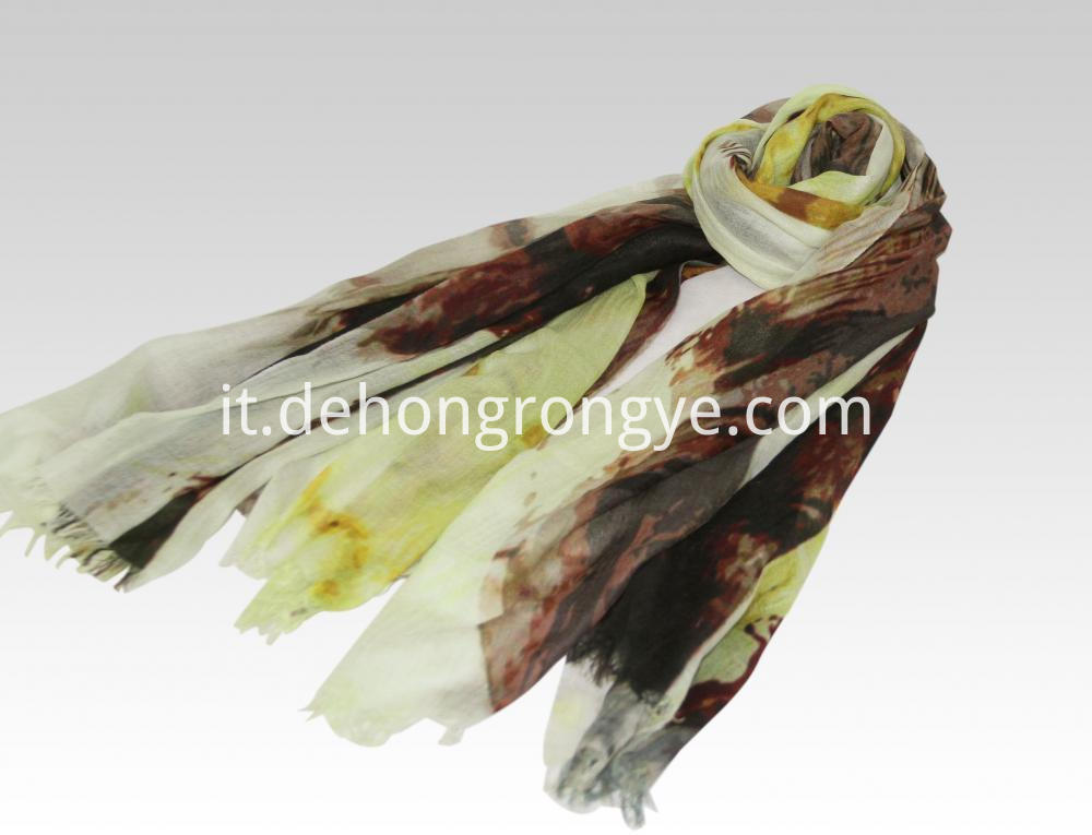 Cashmere Worsted Ultra Thin Gradient Scarf