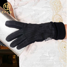 2016 nuevos guantes de cuero de la pantalla táctil del ante del cerdo de las mujeres de la manera