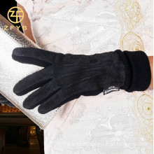 2016 new fashion women pig suede touch screen leather gloves