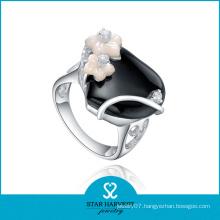 Rhodium Plated Agate Wedding Rings