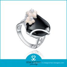 Обручальные кольца из агата с родовым покрытием