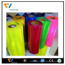 2016 dongguan coloré paillettes lumière reflétant en plastique pvc matériau réfléchissant feuille