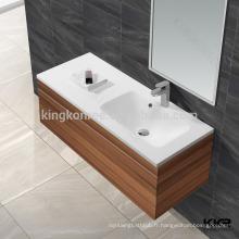 lavabo rectangulaire d'armoire, lavabos de lavage pour la salle de bains