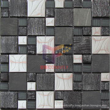 Stone Mix Metal and Crystal Mosaic (CFM944)