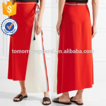 Nueva moda asimétrica Wrap-efecto crepé falda DEM / DOM fabricación al por mayor de moda mujer ropa (TA5186S)