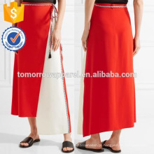 Nova Moda Assimétrica Envoltório-efeito Crepe Saia DEM / DOM Fabricação Atacado Moda Feminina Vestuário (TA5186S)