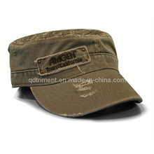 Grinding Washed Applique Broderie Army Leisure Military Cap (TRM015)