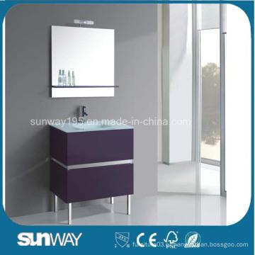 Современная мебель для ванной комнаты MDF с раковиной (SW-1501)