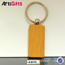 Nuevo diseño de alta gama de llaveros de madera grabada