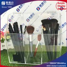 Sujetador de cepillo de acrílico transparente con tapa