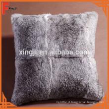 coelho chinês travesseiro de pele de coelho chinchila para sofá