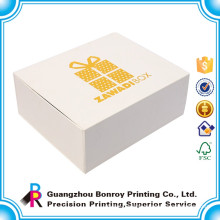 Wholesale high quality custom logo white cardboard drawer gift box