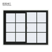 Comfortable Design Anodized Aluminum Sliding Windows with Tempered Glass