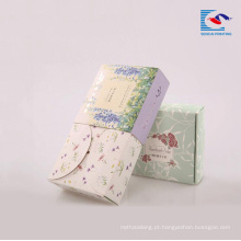 Caixa de papel de arte reciclada personalizada para sabonetes de mão com logotipo impresso UV