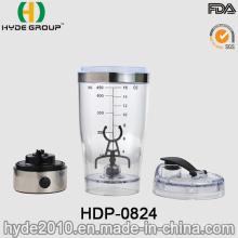 Botella plástica de la coctelera de Vortex de la venta caliente, botella eléctrica plástica de la coctelera de la proteína (HDP-0824)