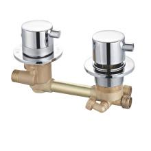 Zn alloy hand konb brass body  thermostatic bath shower mixer