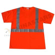 Wicking jersey tecido CSA ZA reflexivo segurança T-shirt
