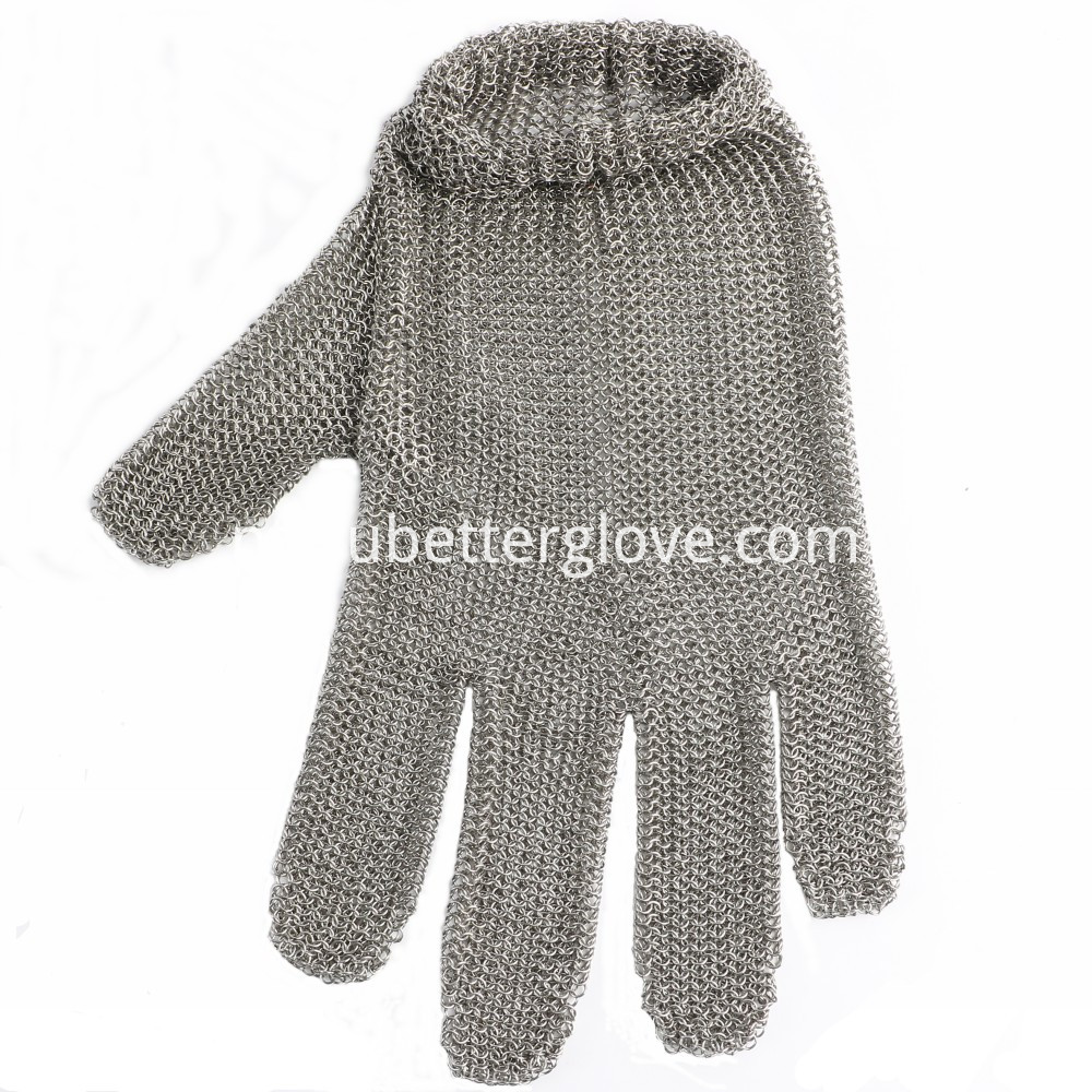 Metal Mesh Gloves With Spring Strap 05