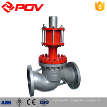 din cast iron pneumatic globe valve dimensions