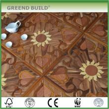 Produtos de assoalho de madeira parquet com padrão de girassol