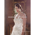 100% Real Photos Custom Made peal lace embroidered wedding dress