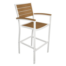 Plastic Wooden Armrest Middle High Best Seller Acrylic Bar Stool