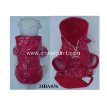 Red waterproof dog clothes