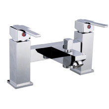 Dual Handle Rim Bathtub Faucet, UK Style