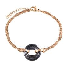 74404 großhandel italienischer edelstahl schmuck, gold neueste damenmode armband