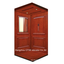 OTSE cabina de elevación de madera para ascensor de casa con puerta abierta manual
