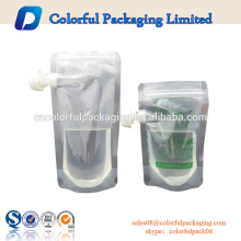 China heiße verkaufende Plastiktaschegetränkbeutelhersteller-Energiegetränk-Tüllenbeutel