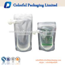 Bolsa vendedora caliente del canalón de la bebida de la energía de los fabricantes de las bolsas de la bebida del bolso de plástico de China