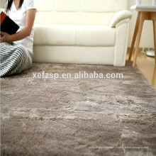 100% poliéster revestimento de borracha por atacado carpete underlay tapete 100% poliéster impresso tapete impermeável macio shaggy