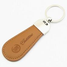 Promotion Geschenk Metall Schlüsselanhänger Leder Schlüsselanhänger mit Stempel Logo (F3027)