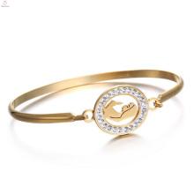 Eu te amo mamãe aço inoxidável presente do dia das mães lembrança bracelete pulseira