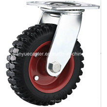 6 Inch Heavy Duty Artificial Rubber Swivel Industrial Caster Trolley Caster