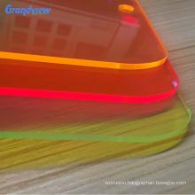Decorative fluorescent green acrylic polished plastic sheet