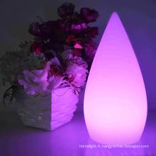 OEM en forme de petite eau goutte conduit lampe coloré Bureau led rechargeable lampe maison décoration de table